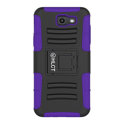 Samsung Galaxy J7 (2017) Stand Case, HLCT Rugged Shock Proof Dual-Layer PC...