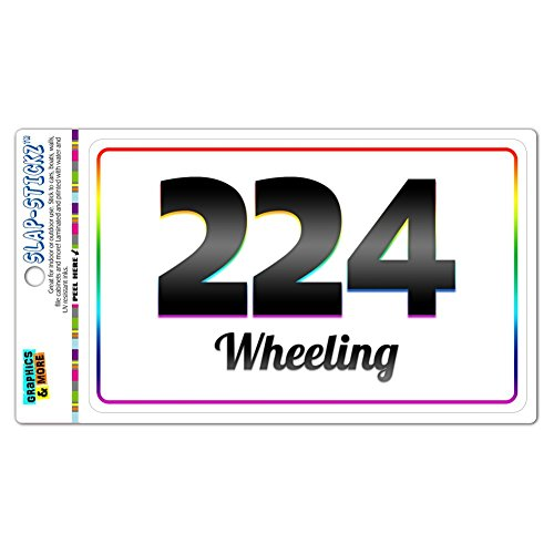 Area Code Rainbow Window Sticker 224 Illinois IL Arlington Heights - Wheeling - Wheeling (City Of Arlington Heights Il)