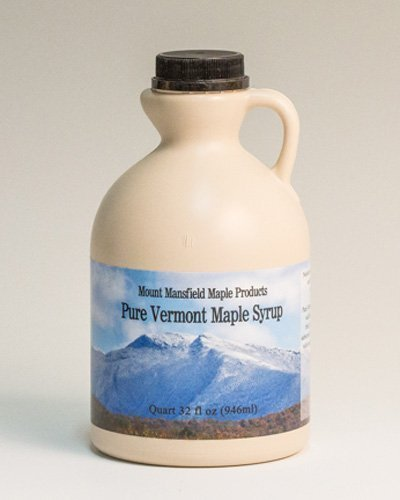 Mansfield Maple- Quart (32oz) Pure Vermont Maple Syrup Grade A Amber Rich (Vermont Grade A-Medium)