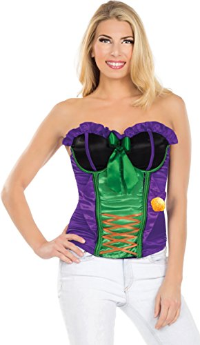 Rubies Costume Secret Wishes DC Comics Justice League Superhero Style Adult Corset Top with Logo The Joker, Purple, Medium]()
