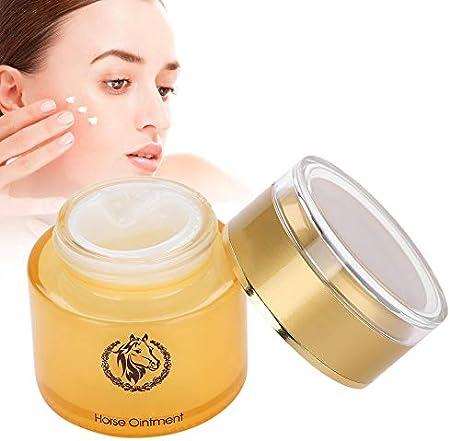 Crema de aceite de caballo Crema facial hidratante blanqueadora para aclarar el tono de la piel e hidratante No grasosa y fácil de absorber para que su piel sienta el cambio (50 g)