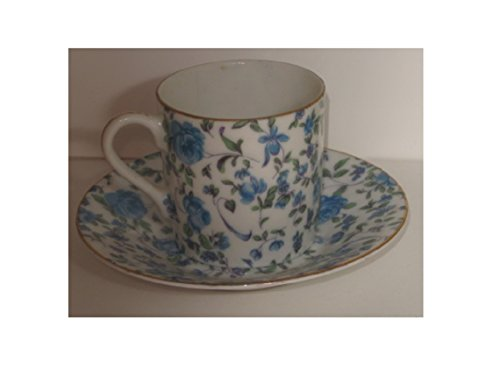 Vintage Demi Cup and Saucer Lefton and Royal Crown No. 2120 (Lefton China Hand Painted Cup And Saucer)