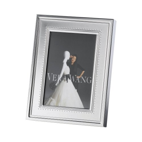 Vera Wang by Wedgwood Grosgrain 4-Inch by 6-Inch Frame