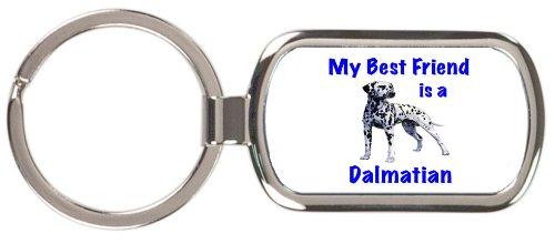 (My Best Friend is Dalmatian Rectangular Keychain)