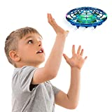 Hand Operated Drones for Kids or Adults - Scoot Hands Free Mini Drone Helicopter, Easy Indoor Small Orb Flying Ball Drone Toys for Boys or Girls (Blue)