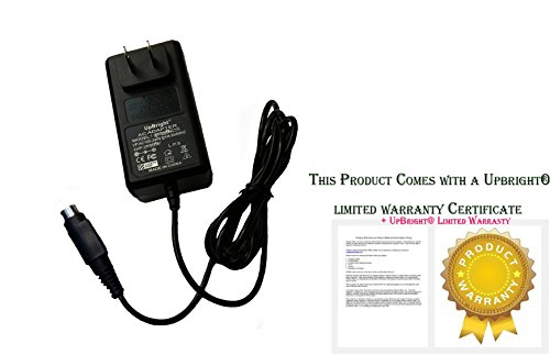 UpBright NEW 4-Pin DIN AC / DC Adapter Replacement For Kangaroo ePump Enteral Feeding Pump Type: FW7556M/09 FW7556M / 09 MENB1020A0900B02 SL Power and AULT Medical Kendall Covidien REF (Kendall Kangaroo)