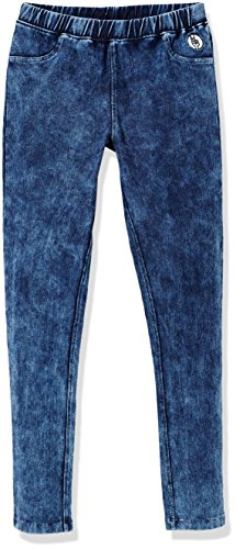 Kid Nation Girls' Cotton Stretch Washed Knit Pull-on Jegging M Navy Washed … ()