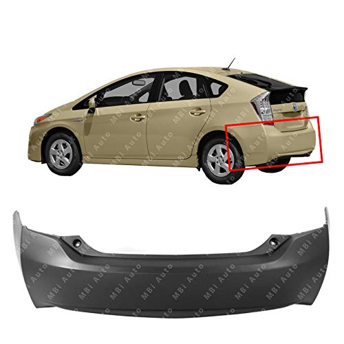 MBI AUTO - Primered, Rear Bumper Cover for 2010-2015 Toyota Prius 10-15, -