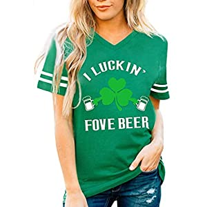 Canifon Women's T-Shirts Short Sleeve Crew Neck Casual Blouses Green Print Loose Plus Size Summer Retro Tunic Tops