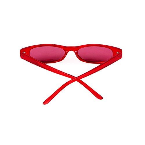 1 ADEWU Retro De Petit Soleil Oval Femmes Clout Red frame Goggles Lunettes lens Hommes Red CHgRxq6Cw