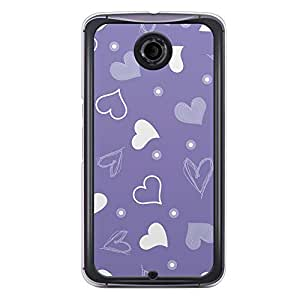 Loud Universe Nexus 6 2015 Love Valentine Printing Files A Valentine 134 Printed Transparent Edge Case - Purple