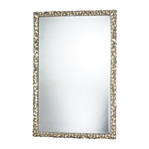 Sterling Emery Hill Mirror, Silver Leaf Sterling Silver Rectangular Mirror