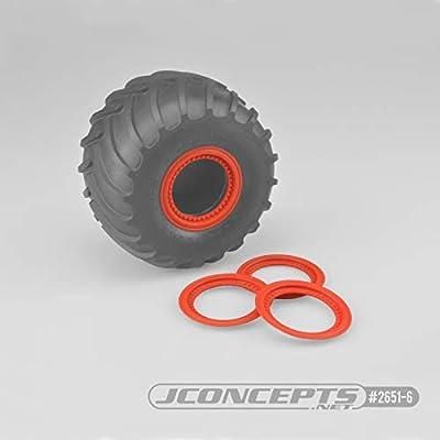 JConcepts Tribute Wheel (Glue On) Mock Beadlock Rings (4) Orange: Toys & Games