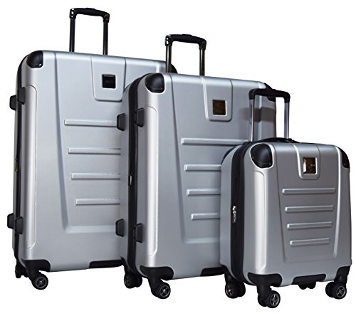 Kenneth Cole Reaction Get Away 3-Piece Expandable Luggage Set: 29'', 25'' Spinners and 16'' Carry On Under Seat Bag (Light Silver) by Kenneth Cole REACTION