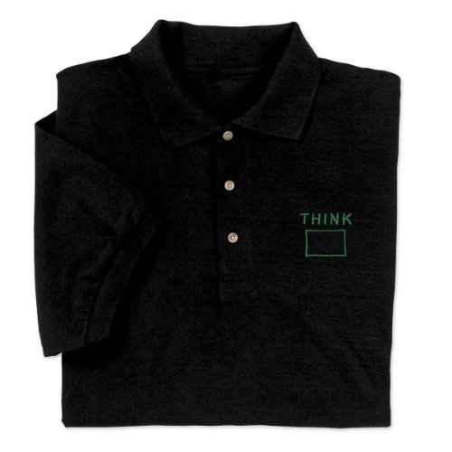 ComputerGear Funny Sayings Shirt Polo Think Outside the Box Engineer Geek, L (Charts For Math Smarter)