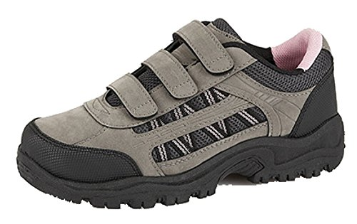 Ladies Kendal Trekker tobillo botas de senderismo Gris - Grey/Black/Pink