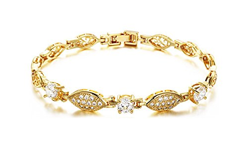 SunIfSnow Double Fish-like Kiss Ladies 18K Gold Plated Bracelet