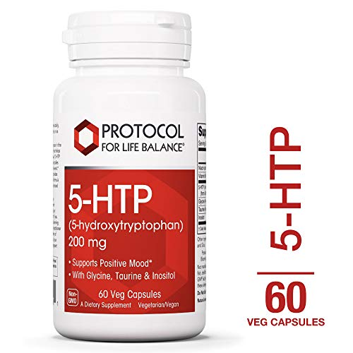 Protocol For Life Balance - 5-HTP (5-hydroxytryptophan) 200 mg - with Glycine, Taurine & Inositol to Supports Positive Mood, Natural Weight Loss, Sleep Aid, Supports Appetite Control - 60 Vcaps