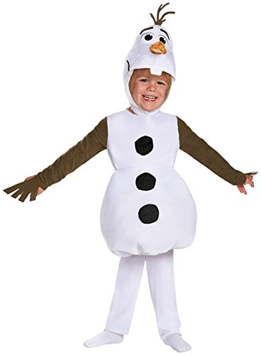 Frozen Olaf Deluxe Toddler & Child Costumes (Disguise Olaf Toddler Classic Costume, Medium (3T-4T))