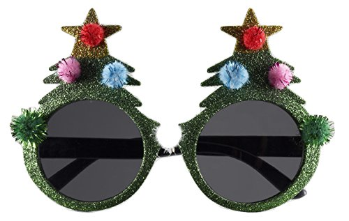 Glitter Christmas Tree - Christmas Tree Sunglasses