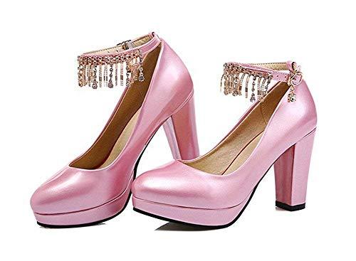 Mujer Alto 38 Eu Deed Cadena Con Tacón De Zapatos Para Cierre czaqvg8z