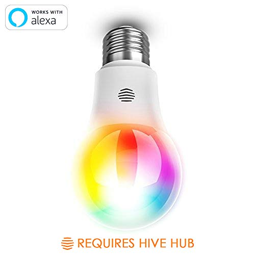 Cheap Hive LED Light Bulb for Smart Home, Multi-Color, Works with Alexa & Google Home, Requires Hive Hub
