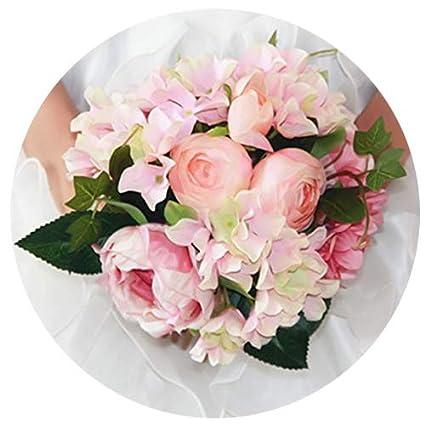 Amazon Artificial Silk Hydrangea Peony Ranunculus Posy Flowers