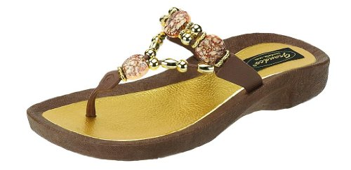 Grandco Women's Expression Thong Brown S - Ladies Jeweled Thong Sandal Shopping Results