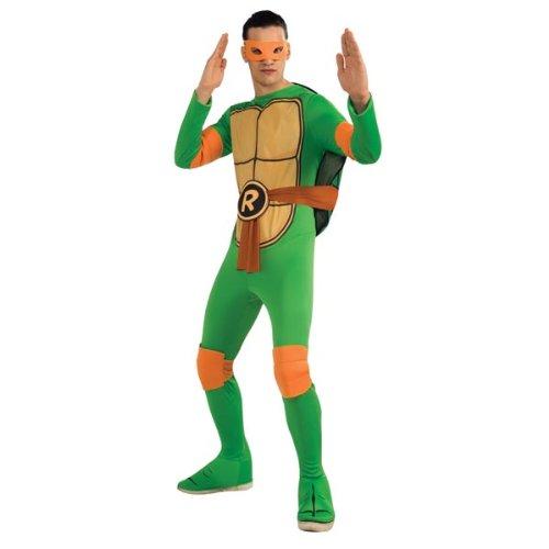 Ninja Turtles Adults Costumes (Nickelodeon Ninja Turtles Adult Michelangelo and Accessories, Green, x-large Costume)