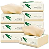 DELLBOO Bamboo Facial Tissues Organic ECO-Friendly TISSUES 100 Count, 8 Pack FDA Approved Natural Tree Free Tear Resistant Facial Tissue