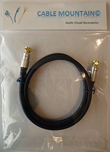 Cable Mountain Deluxe - Cable coaxial RG59 (tipo F, conectores dorados, 1 m): Amazon.es: Electrónica