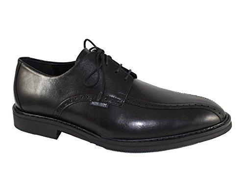 12100 Mephisto Daciano Con De Zapato negro Cordones Hombre Cuero De 67HPq6a