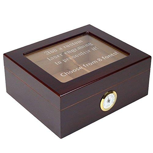 Engraved Cigar Humidor - 3