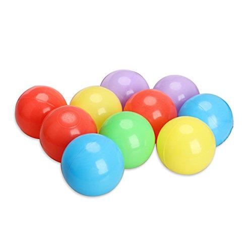 Jocestyle 8cm 10 Pcs Colorful Pit Ball Fun Ball Soft Plastic Ocean Ball Baby Kid Swim Pit Toys