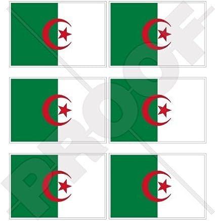 Algérie Drapeau Algerie, Alger 40mm (40,6cm) Mobile, Téléphone portable, mini en vinyle autocollants, Stickers x6