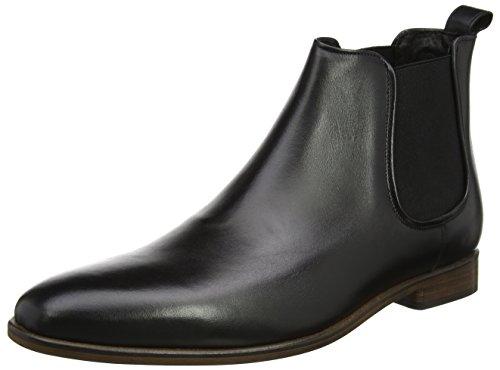 Bertie Herren Molecule Chelsea Boots Schwarz (Black Leather)