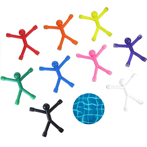 9 pcs Magnetic Man Q-Man Bendable Children Toys Soft Rubber Magnet Man Refrigerator Magnets Cute Magnetic Toy For Kids Office Magnets Fridge Magnets Toy