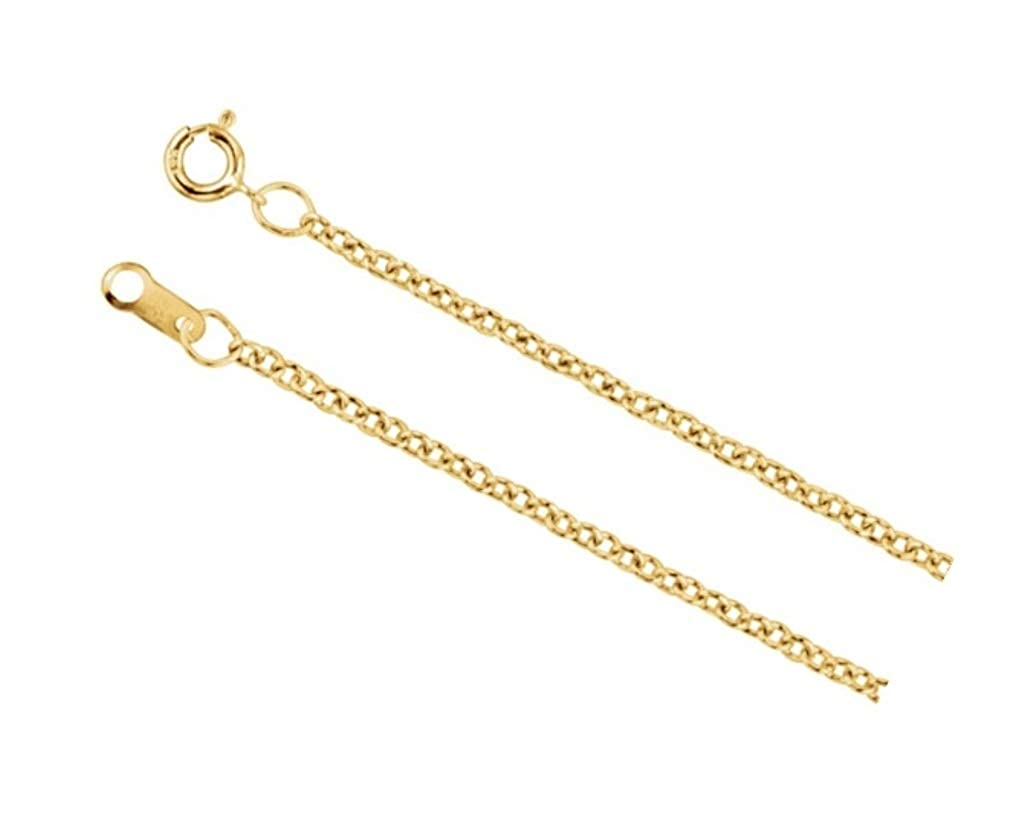 14K Yellow Gold Filled 1.5mm Solid Cable Chain