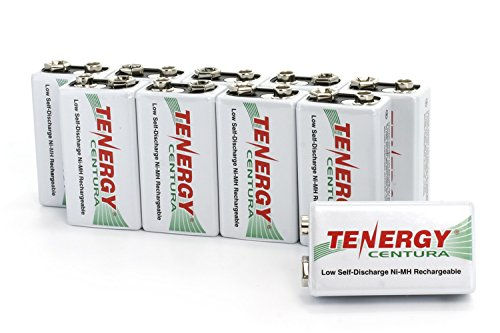 10 Pieces of Tenergy Centura 9V 200mAh Low Self-Discharge NiMH Rechargeable Batteries
