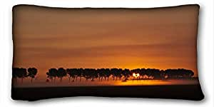 Generic Personalized Nature Custom Cotton & Polyester Soft Rectangle Pillow Case Cover 20x36 inches (One Side) suitable for Queen-bed