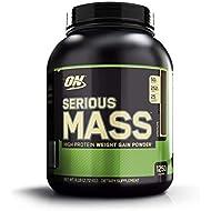 OPTIMUM NUTRITION Serious Mass Weight Gainer Protein Powder, Chocolate, 2.72 kg