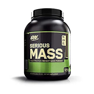 OPTIMUM NUTRITION Serious Mass Weight Gainer Protein Powder, Chocolate, 6 Pound (Packaging May Vary)