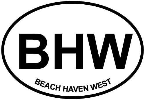 DG Graphics Magnet Beach Haven West, NJ Euro Oval Magnet Car Auto Fridge Locker Metal 5
