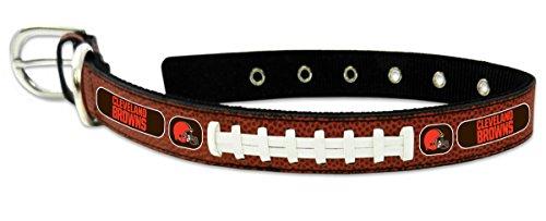 Brown Nfl Genuine Football Jersey - Cleveland Browns Classic Leather Medium Football Collar,Medium,Brown