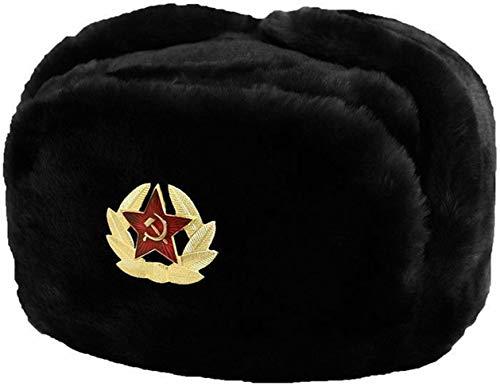 Cossack Winter Russian Hat Ushanka Soviet Army USSR Red Star Warm Faux Fur