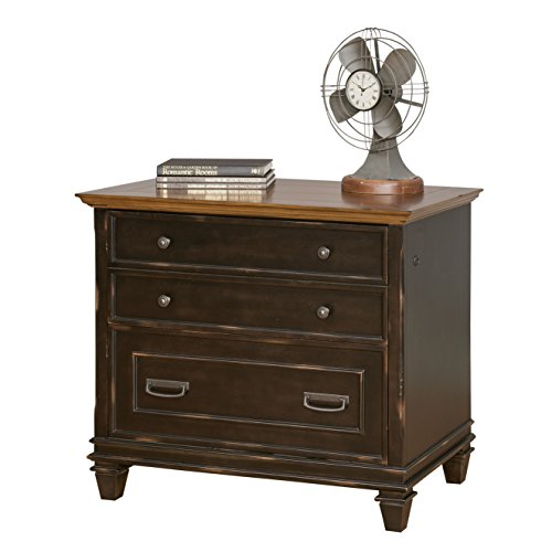 Martin Furniture Hartford Lateral File Cabinet, Brown – Fully Assembled