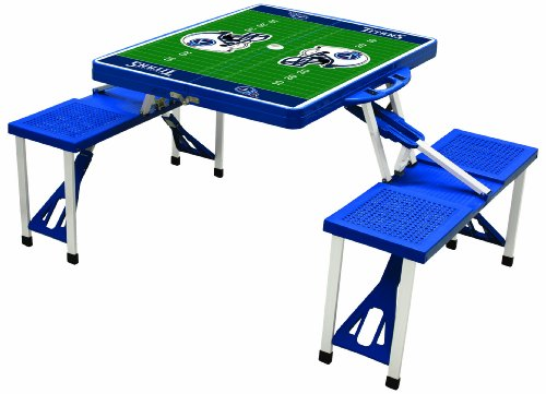 Card Tennessee Titans Nfl Football - PICNIC TIME NFL Tennessee Titans Football Field Design Portable Folding Table/Seats, Blue