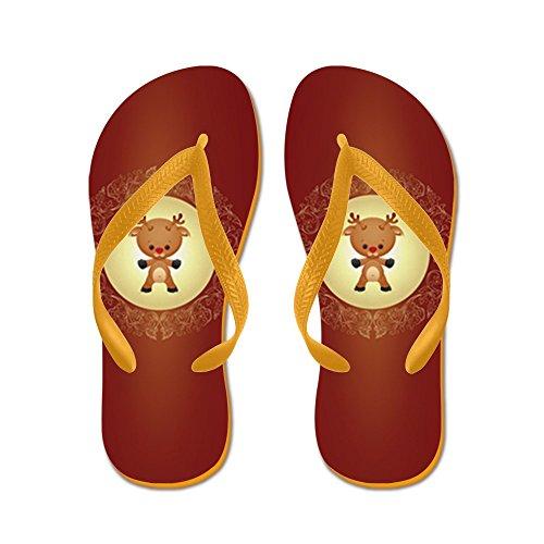 Echt Teague Heren Kerst Schatjes Rudolf De Rode Neus Rendieren Rubberen Slippers Sandalen Oranje