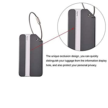 Etiquetas para equipaje SStaste, etiquetas de viaje, etiqueta de dirección de maleta de viaje