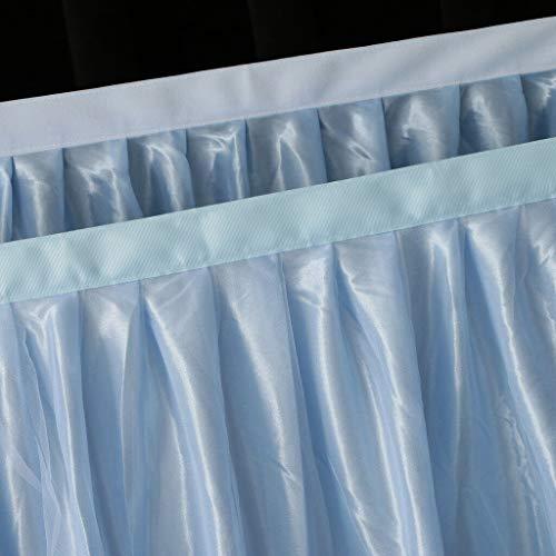 BROSCO 6ft 9ft 14ft Wedding Soft Tulle Tutu Table Skirt Tableware Birthday Decoration | Item - Blue 9ft